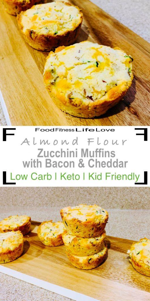 Almond Flour Zucchini Muffins Pin