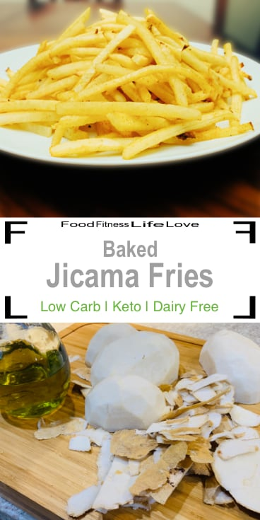 Baked Jicama Fries Recipe Pin