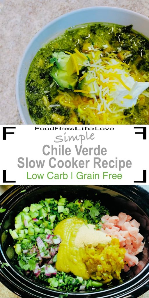 Chile Verde Slow Cooker Recipe Pin