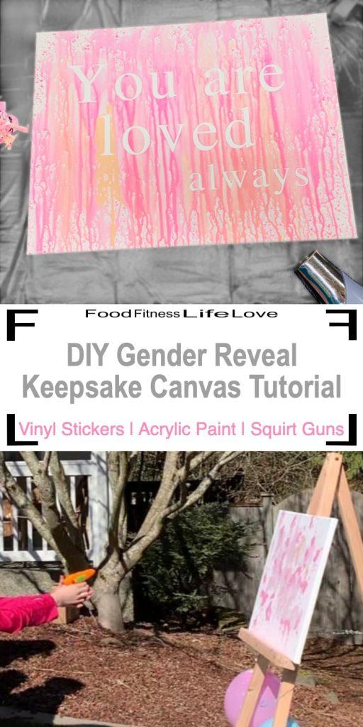 DIY Gender Reveal Keepsake Canvas Tutorial Pin