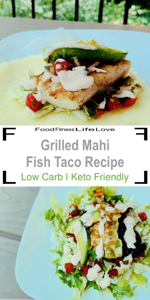 Gilled Mahi Fish Taco Recipe Pin