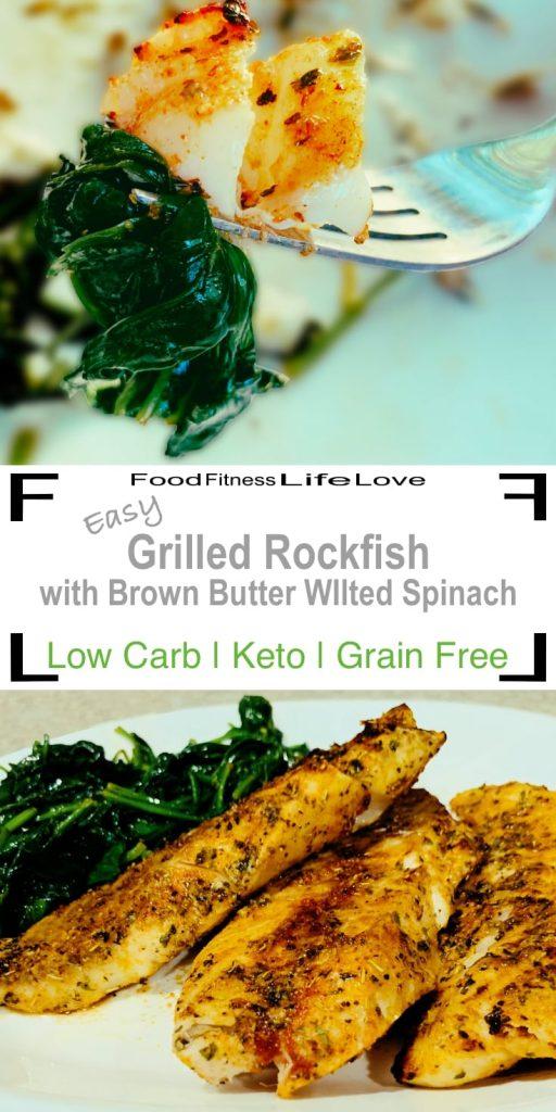 Grilled Rockfish Recipe Pin