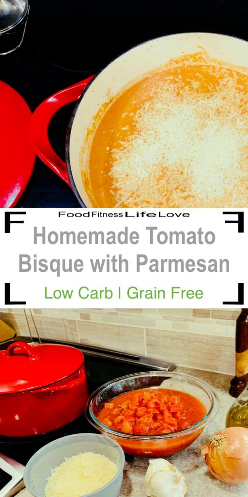 Homemade Tomato Bisque Soup Recipe Pin