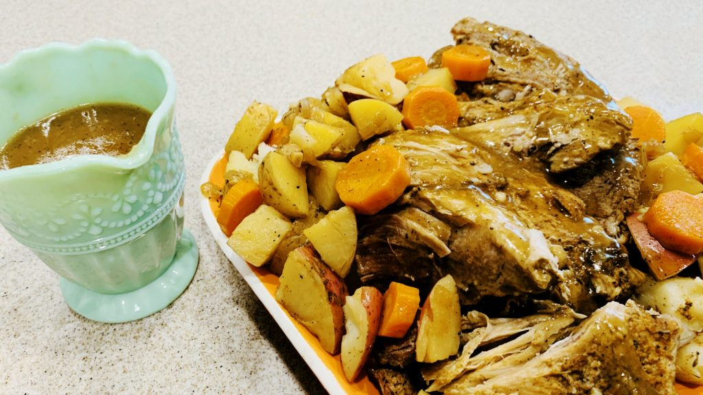 Pork Roast, Potatoes and Carrots in the Instant Pot