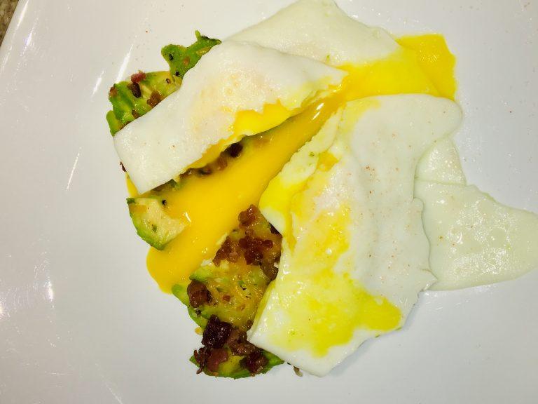 Avocado, Bacon, Eggs, and Cheese