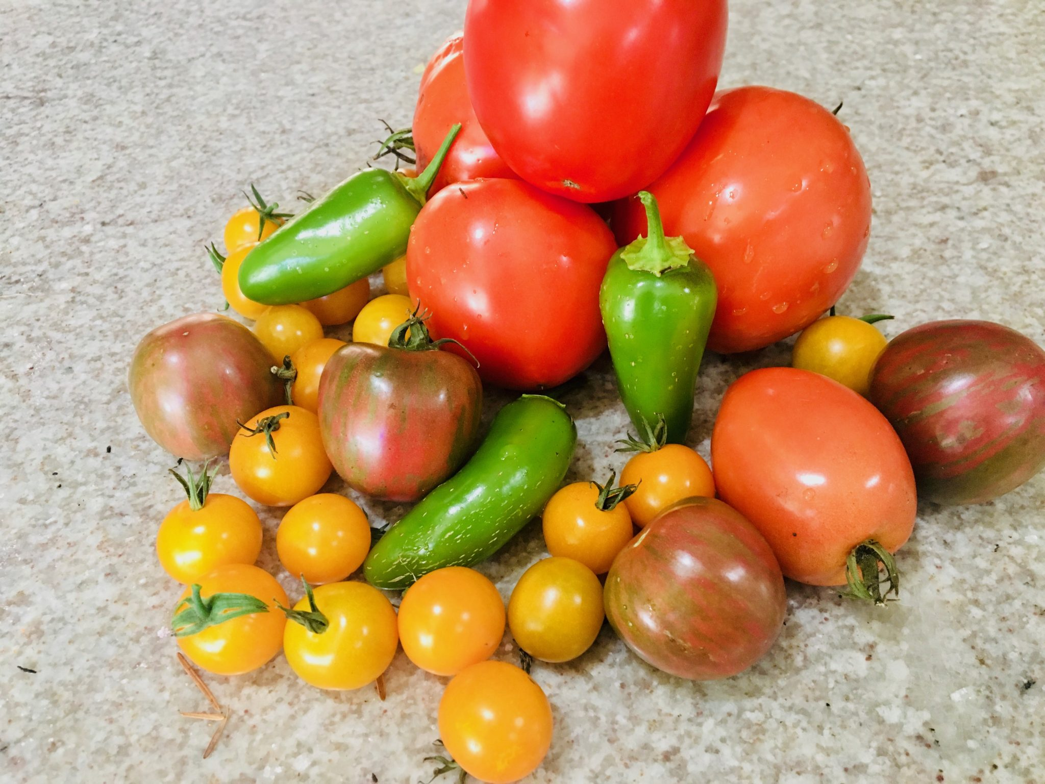 Tomatoes and Jalepenos