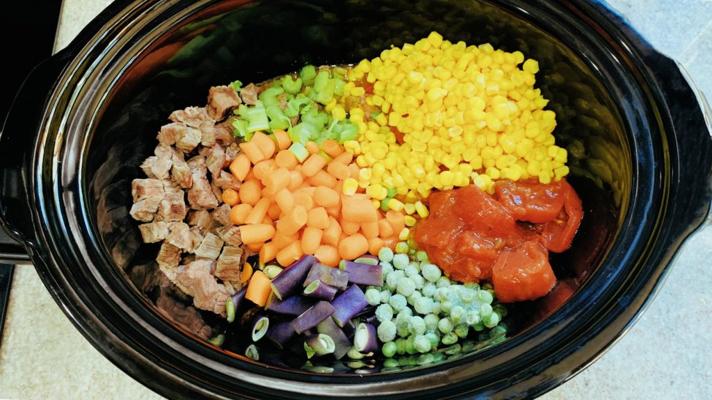 Vegetables and Beef in Slow Cooker