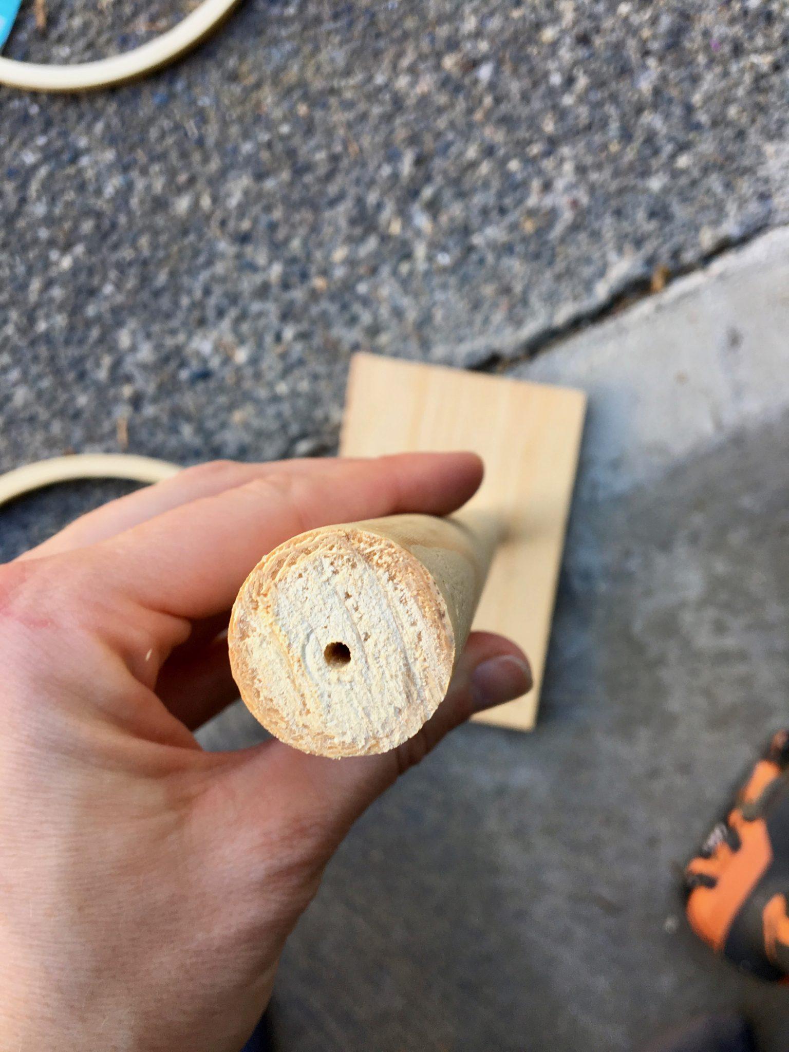 Pre-Drilling Wooden Dowel