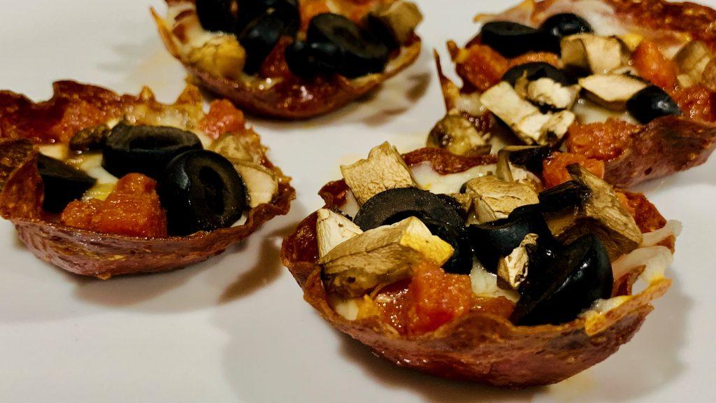Low Carb Salami Pizza Cups