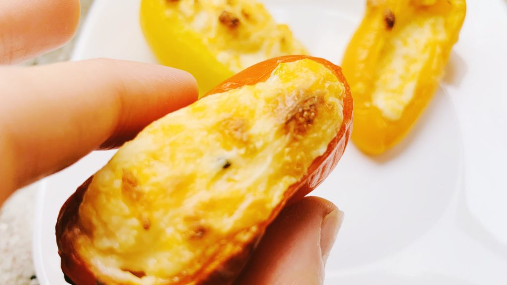 Cheesy Garlic Stuffed Mini Peppers