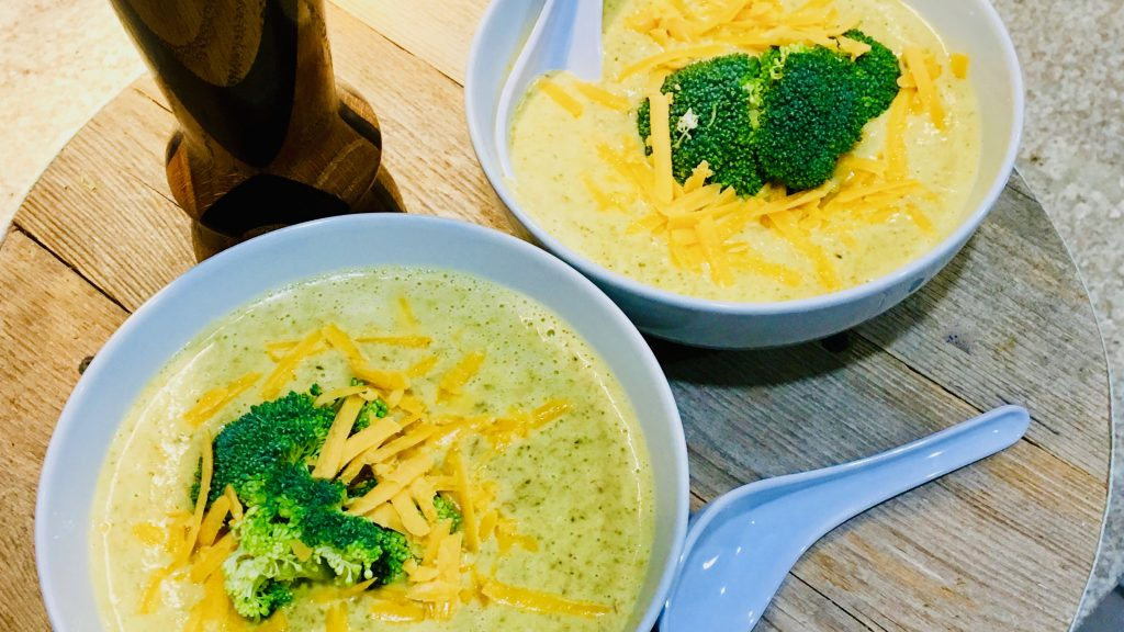 Slow Cooker Broccoli Cheddar Soup with Ham