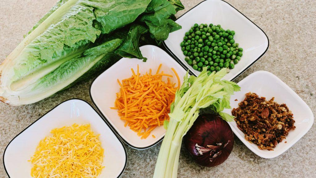 Layered Salad Ingredients