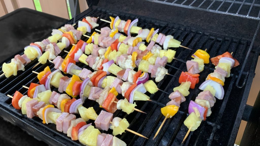Hawaiian Shish Kabobs on the Grill