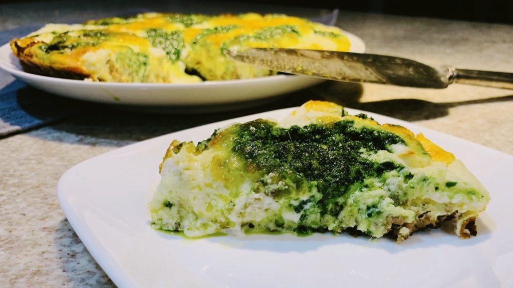 Sausage Spinach Frittata with Ricotta