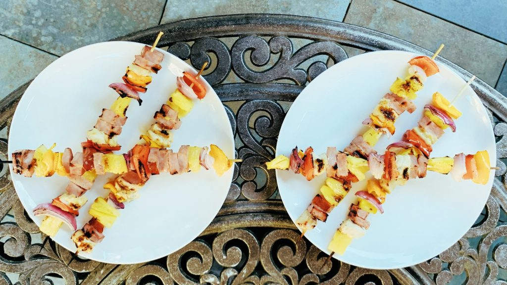 Pineapple and Ham Shish Kabobs