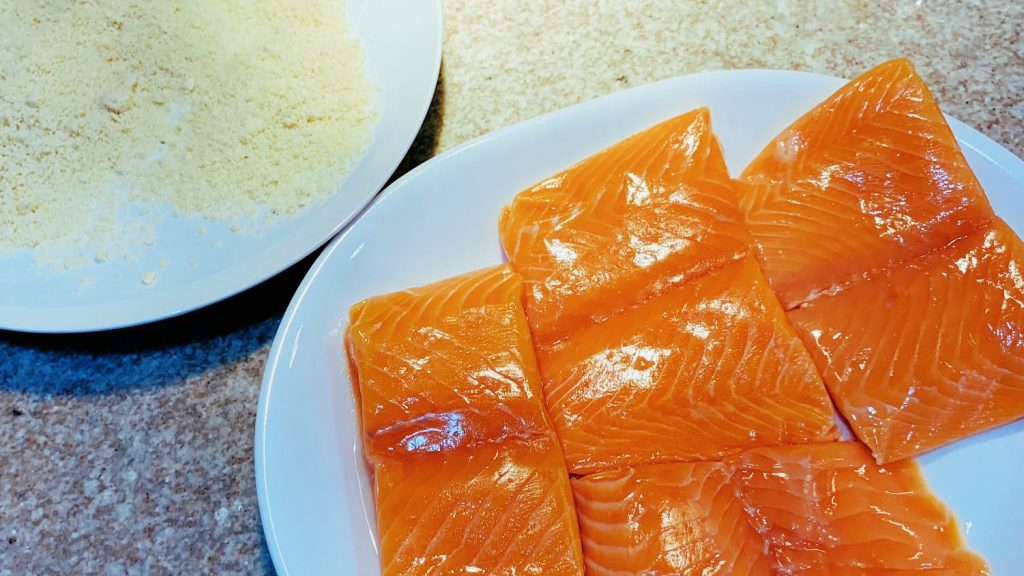 Salmon Fillets and Almond Flour