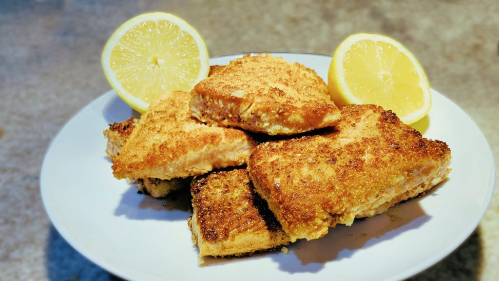 Salmon Meuniere Recipe with Almond Flour