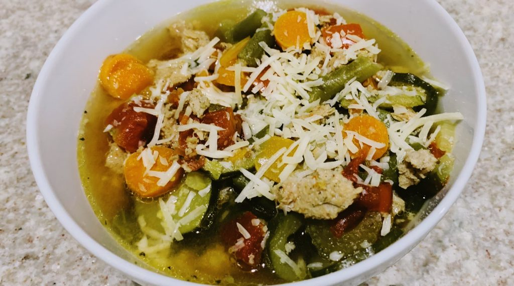 Veggie Soup Sweet Italian Sausage Slow Cooker