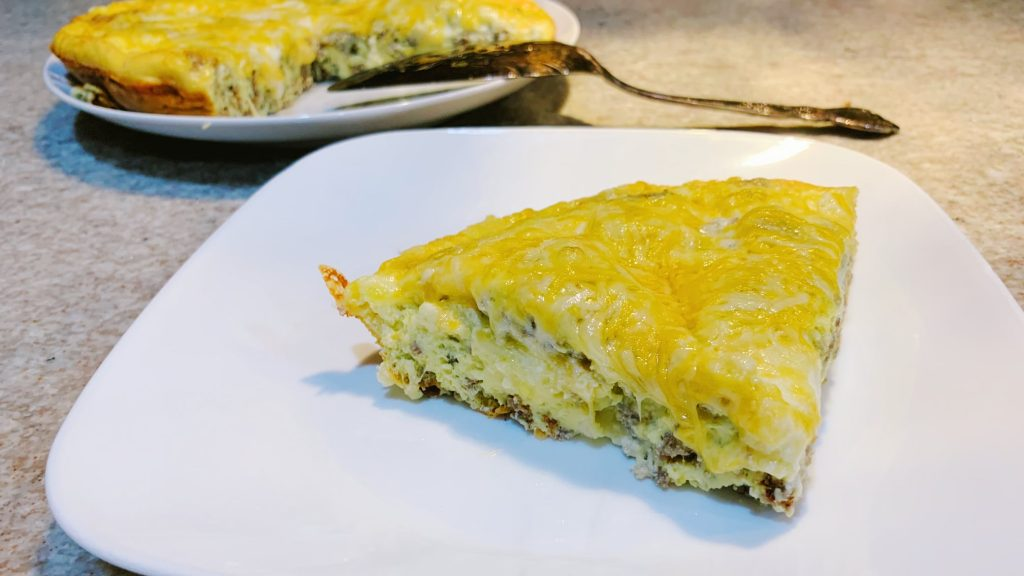 Keto Frittata with Sausage and Cheese