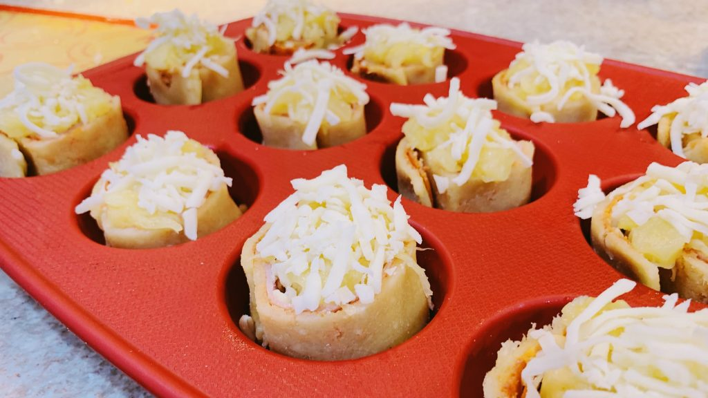 Hawaiian Pizza Pinwheels