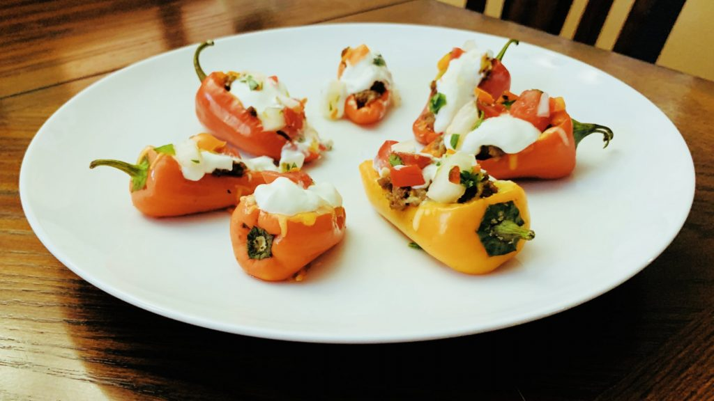 Cheesy Taco Pepper Poppers