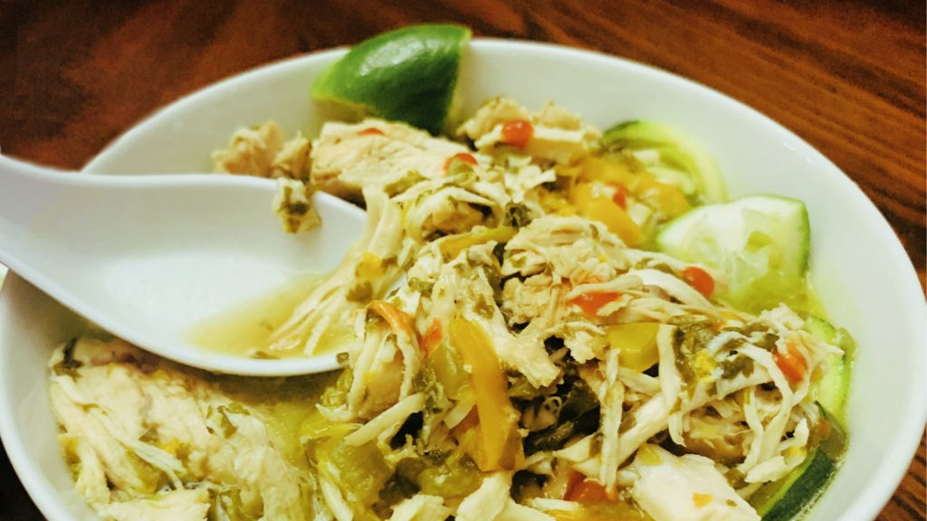 Thai Coconut Chicken Soup in the Instant Pot