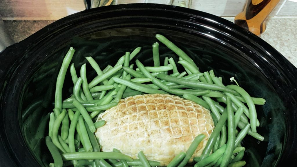 Slow Cooker Turkey Roast and Green Beans