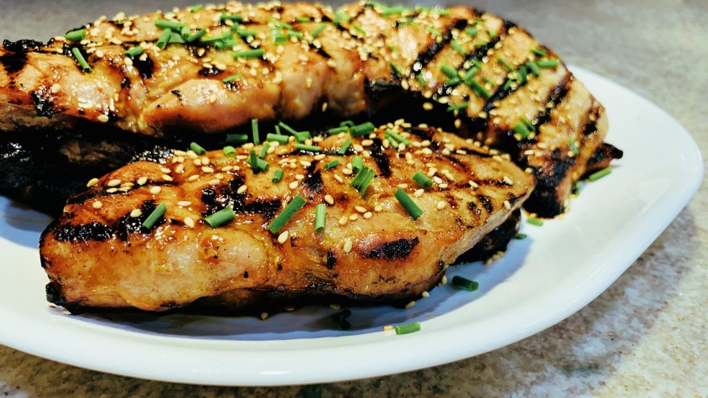 Grilled Boneless Pork Loin Chops