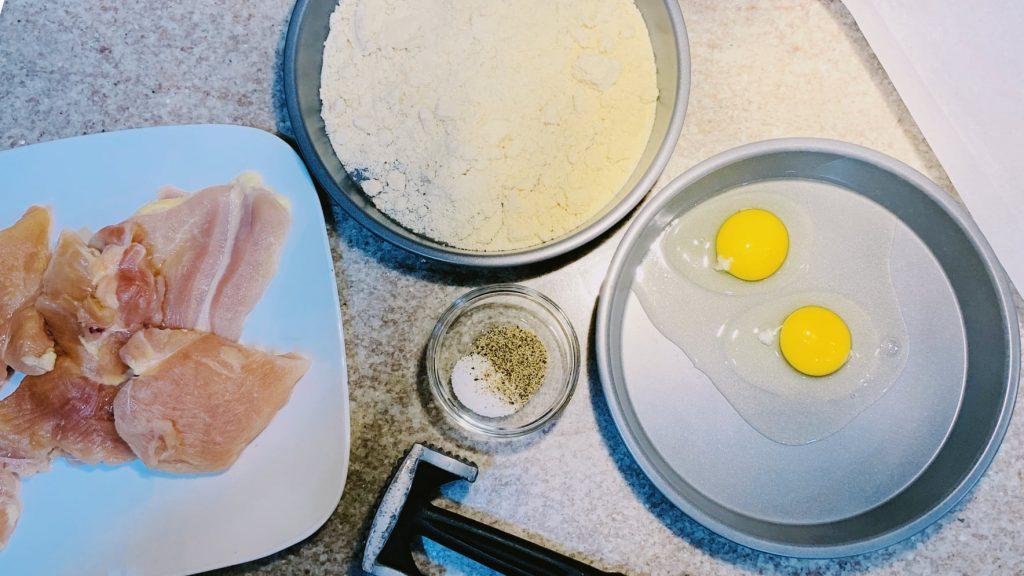Chicken Breast, Almond Flour, Eggs