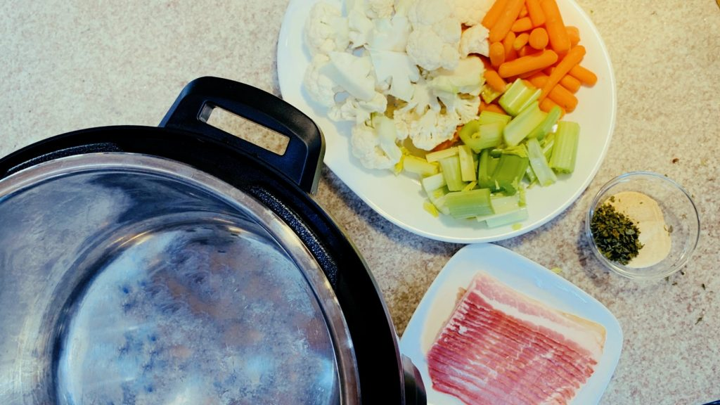 Instant Pot, Vegetables, and Bacon
