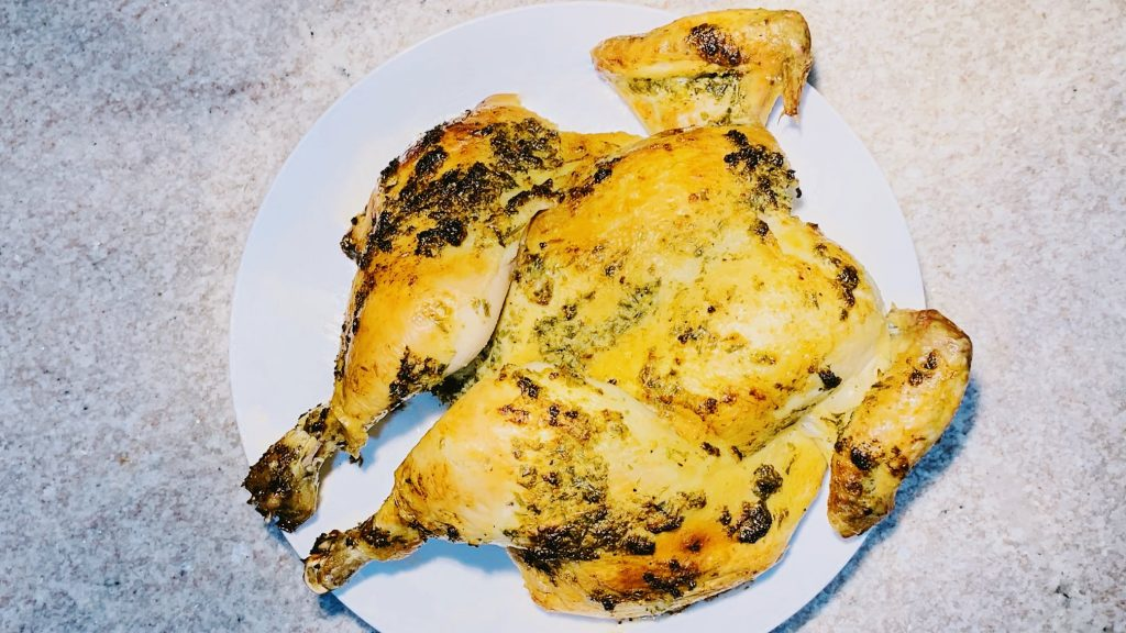 Garlic Lemon Spatchcock Chicken