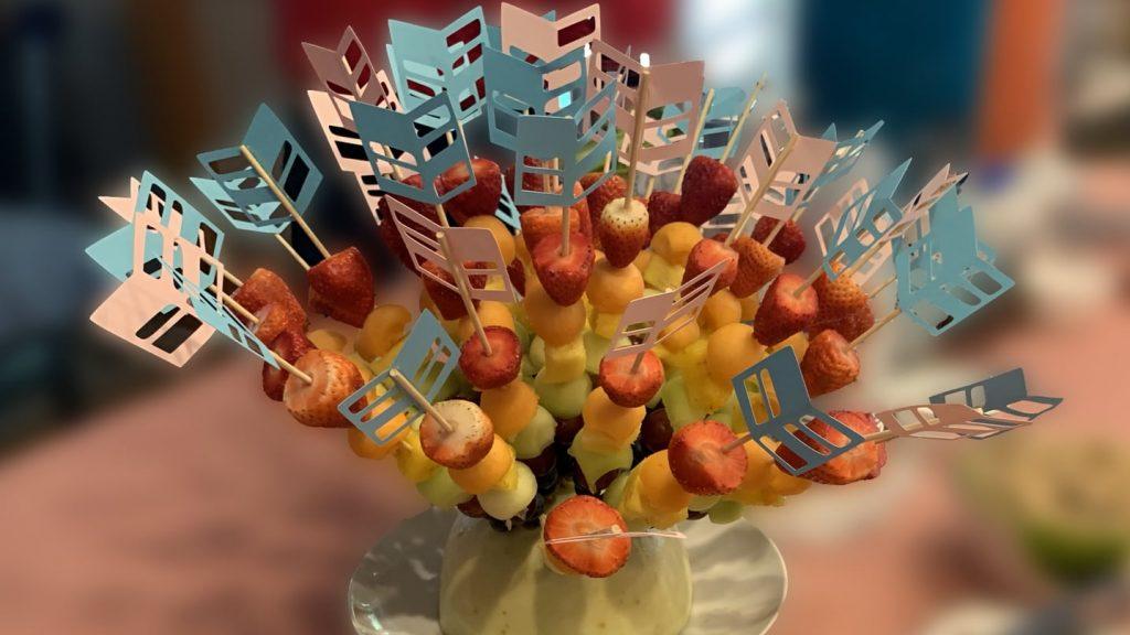 DIY Arrow Fruit Skewers