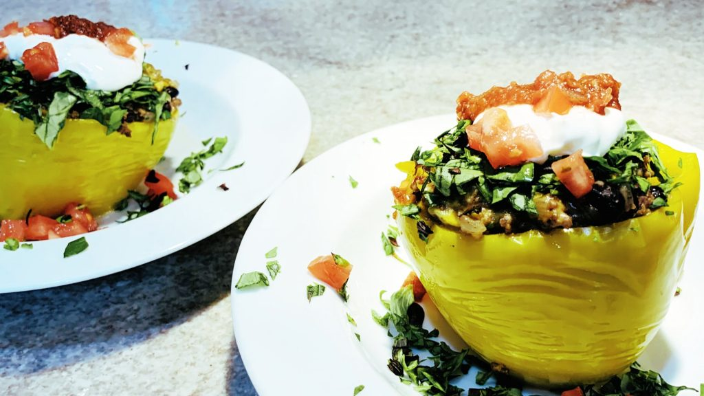 Instant Pot Stuffed Peppers with Taco Filling