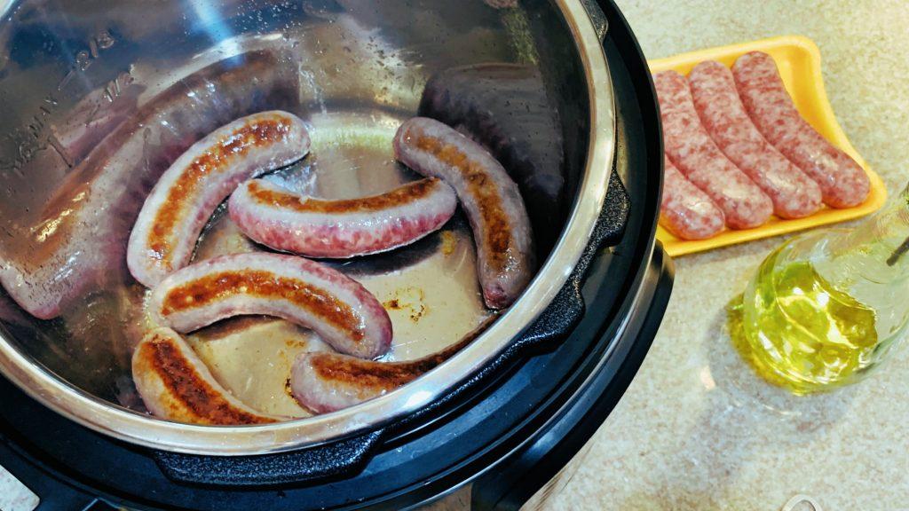 Instant Pot Bratwurst