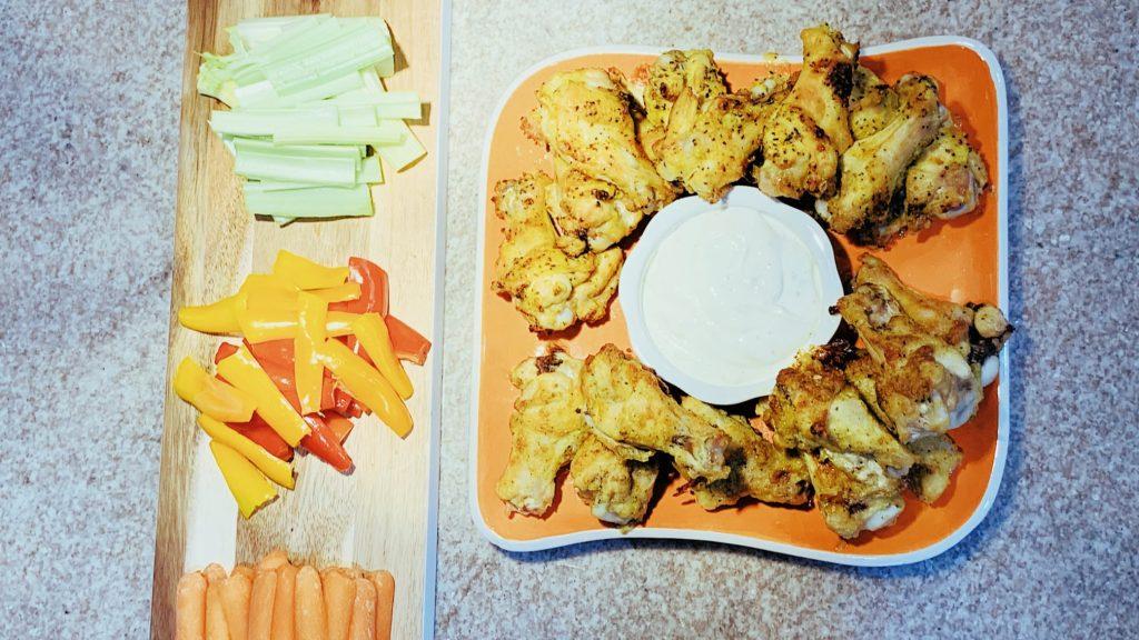 Chicken Drumettes with Vegetables