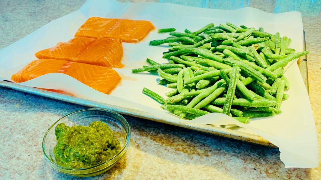 Salmon Filets and Green Beans