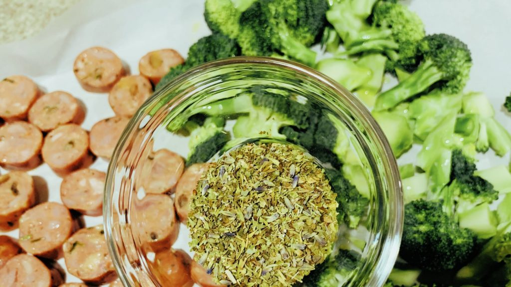Herbs de Provence with Sausage and Broccoli