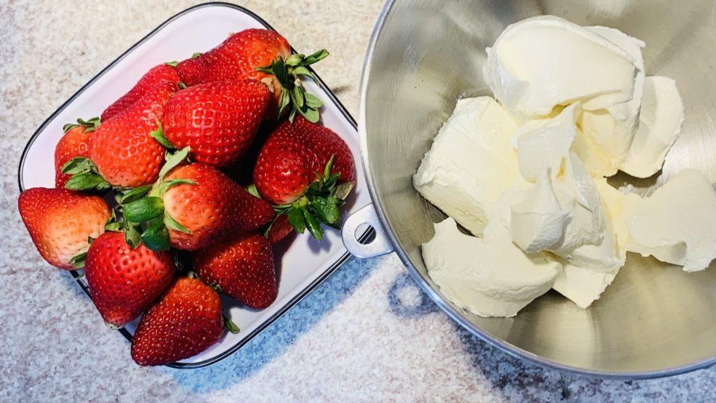 Strawberries and Cream Cheese