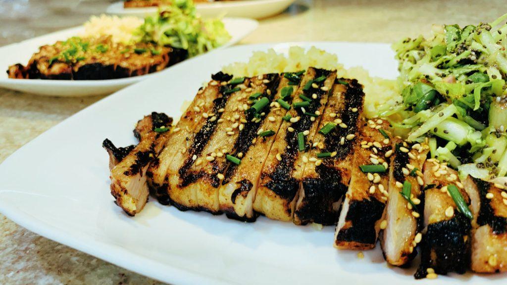 Grilled Asian Boneless Pork Loin Chops