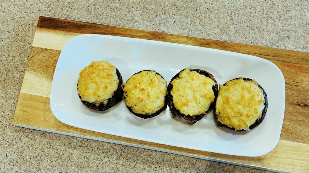 Crab and Cream Cheese Stuffed Mushrooms