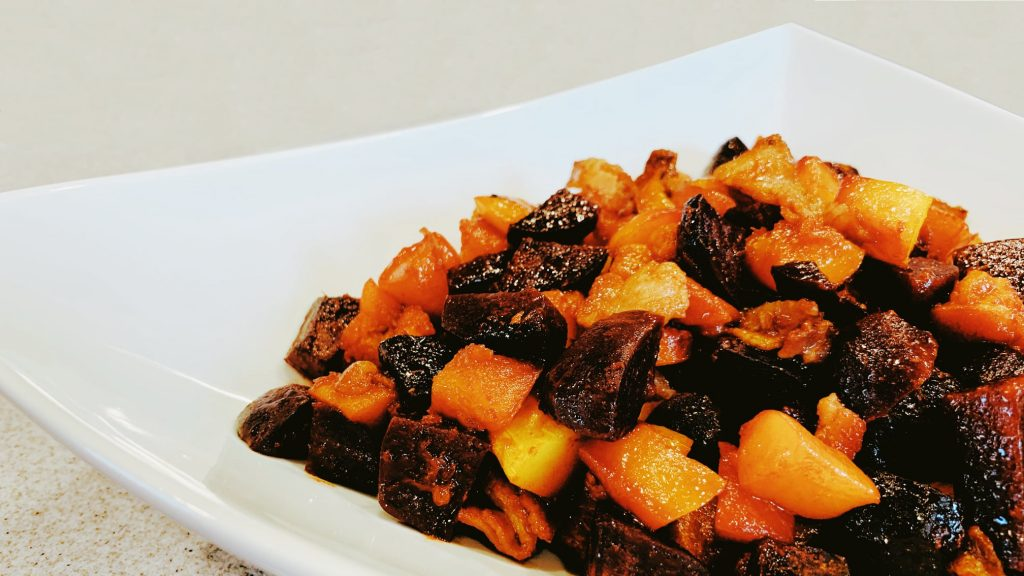 Roasted Beets with Balsamic Vinegar and Butternut Squash