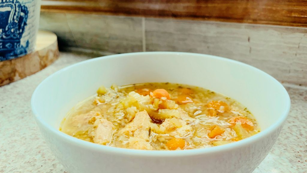 Instant Pot Chicken Rice Soup