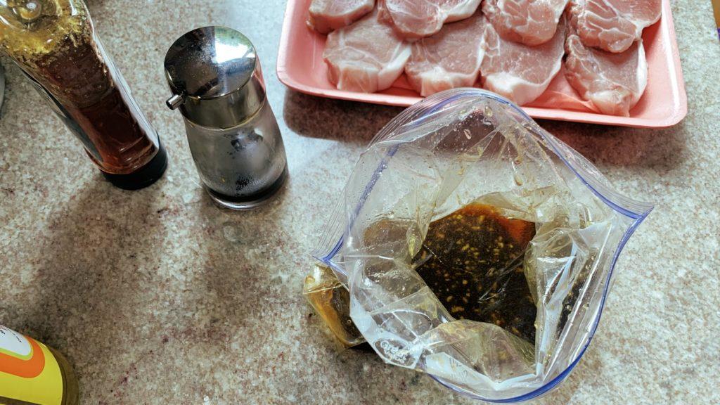 Ginger Soy Marinade for Boneless Pork Loin Chops