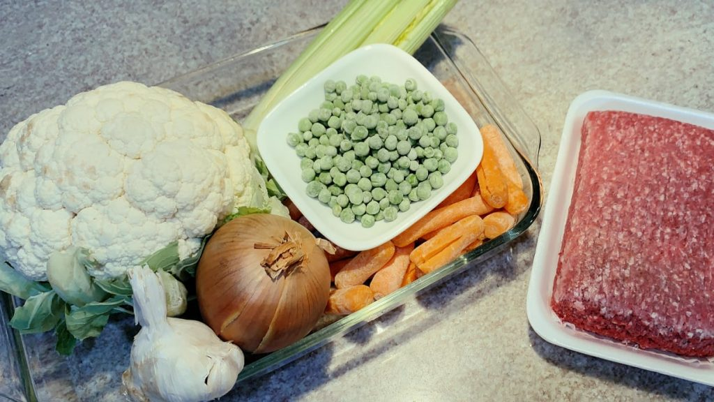 Cauliflower, Vegetables, Ground Beef