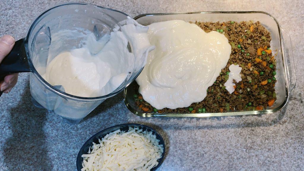 Shepard's Pie with Mashed Cauliflower