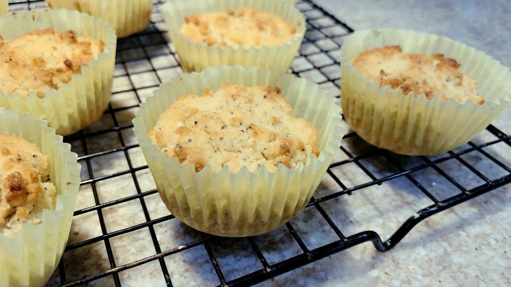 Low Carb Almond Poppy Seed Muffins