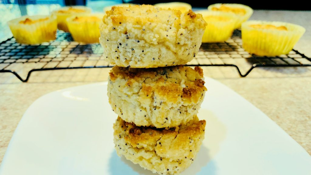 Almond Poppy Seed Muffins with Almond and Coconut Flour