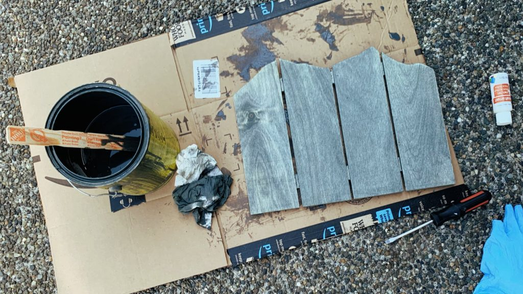 Staining Wood Mountain Wall Art