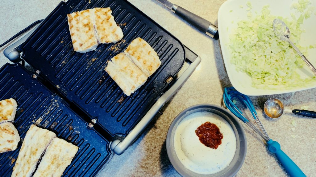 Grilled Mahi Fillets, Fiesta Ranch and Coleslaw