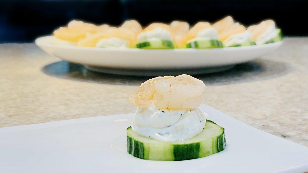 Lemon Dill Shrimp Cucumber Appetizer